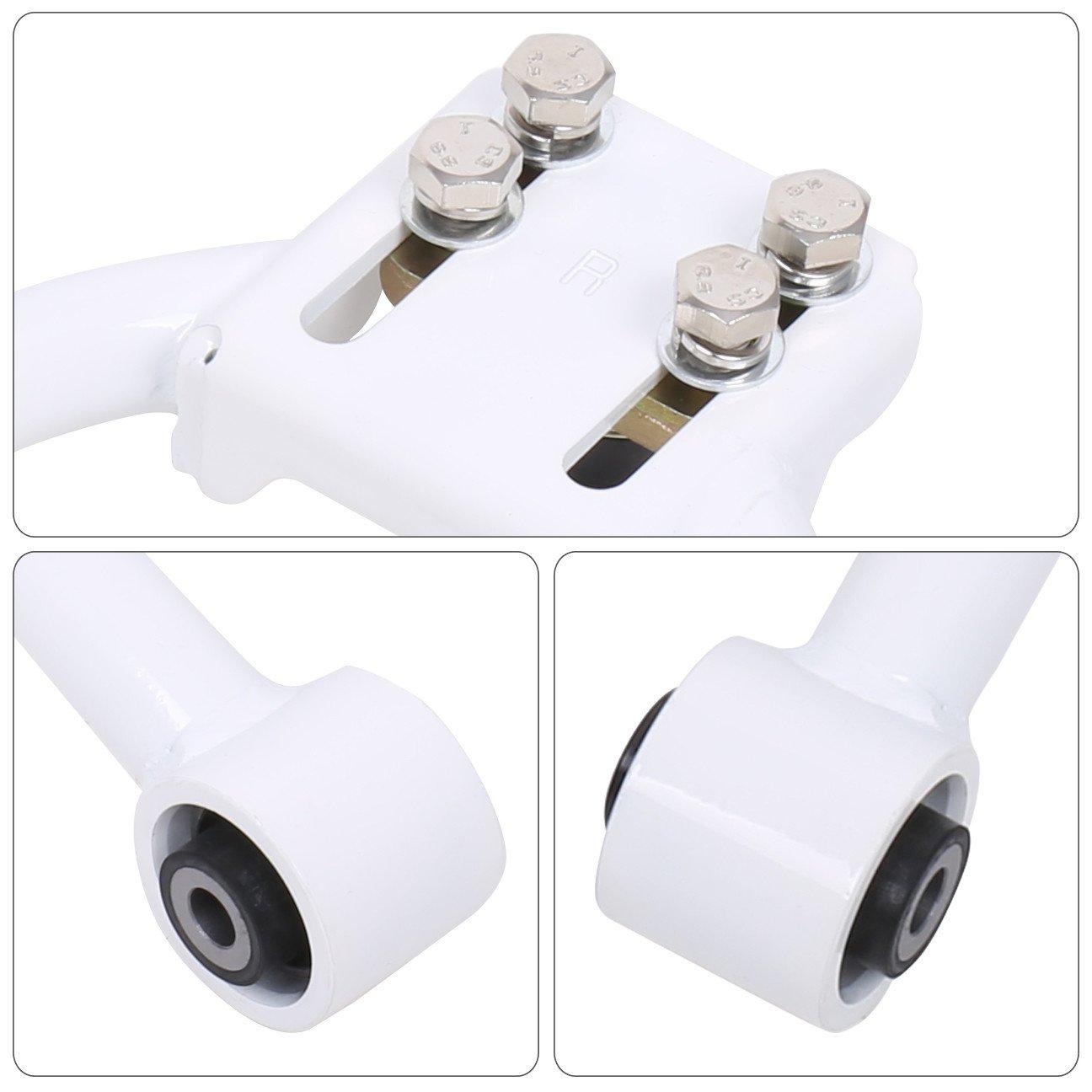 Ajp Distributors Jdm Tubular Adjustable Front Upper Camber Kit White For Honda Civic Ek