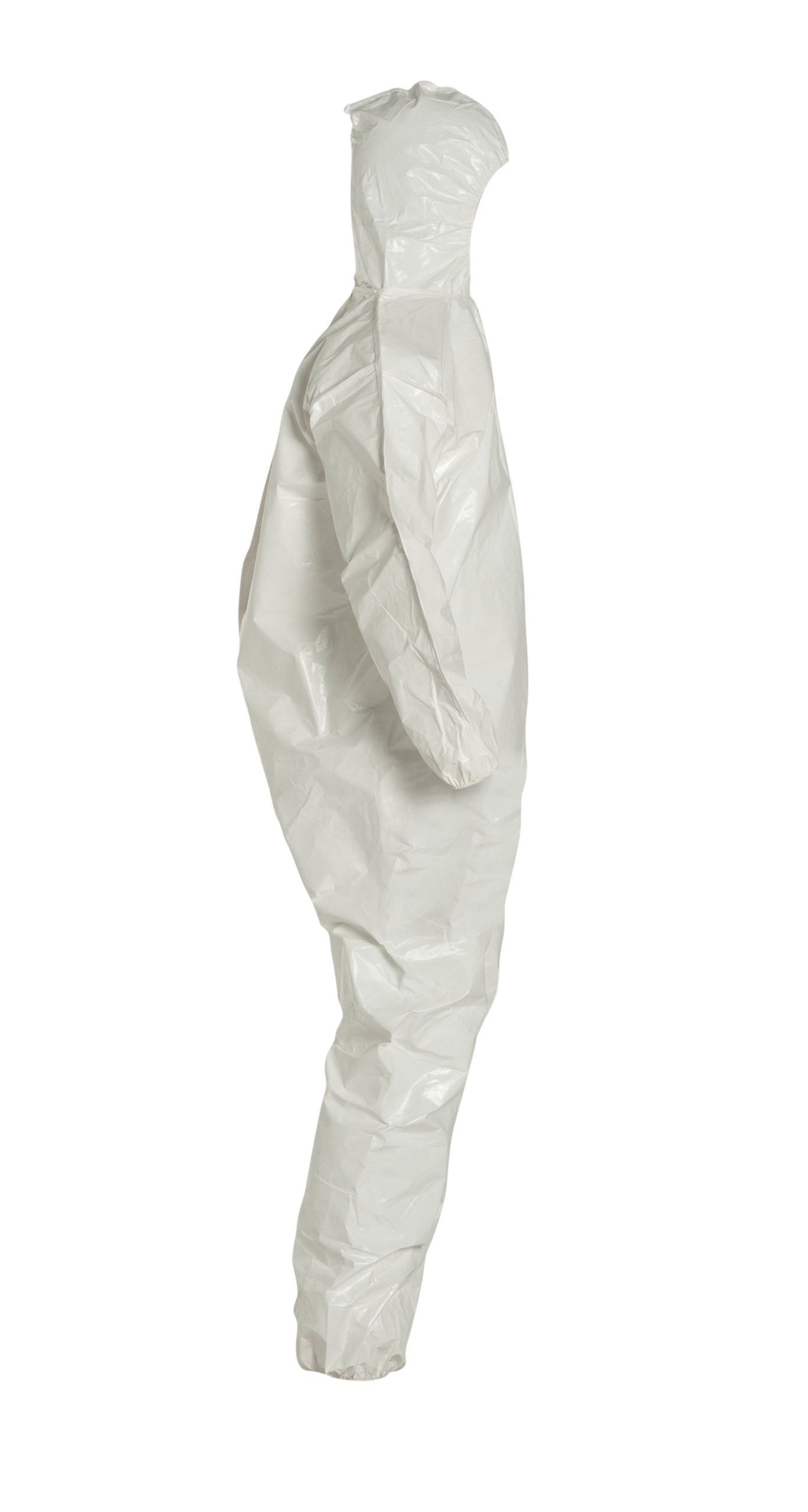 DuPont Tychem 4000 SL127B Disposable Chemical Resistant Coverall with Hood, Elastic Cuff and Bound Seams, White, 2X-Large (Pack of 12) by DuPont (Image #3)