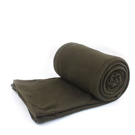 Gytech Forro polar para saco de dormir, suave, cálido, multifuncional, ArmyGreen