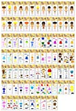 90 Piece Master Adorable Kinders Paper Dolls Set