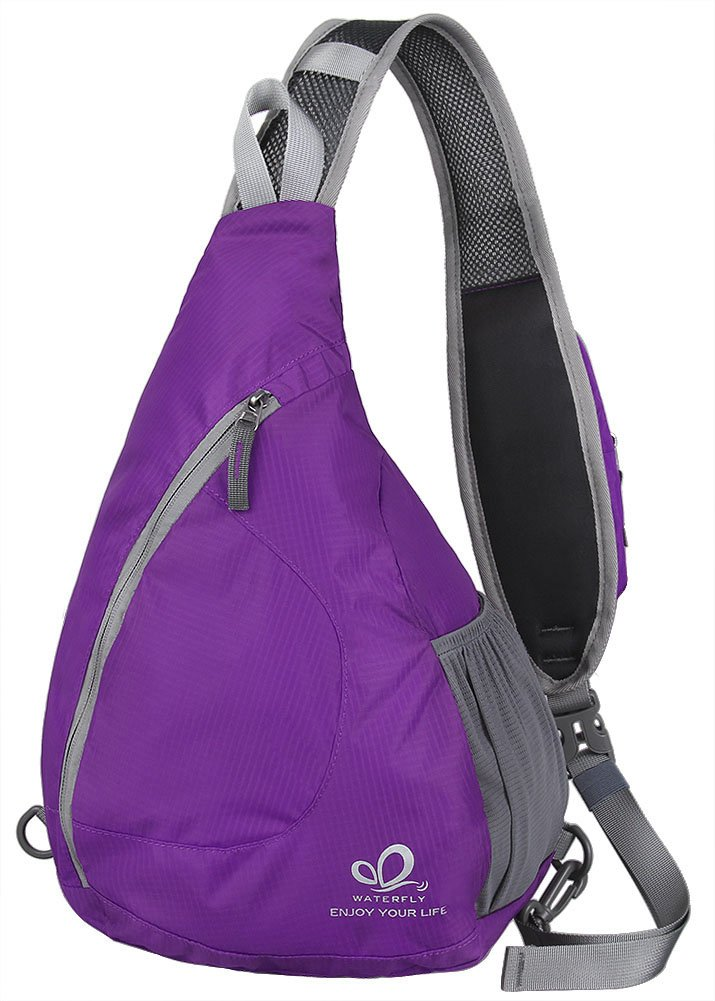 WATERFLY Sling Chest Backpacks Bags Crossbody Shoulder Triangle Packs Daypacks for Cycling Walking Dog Hiking Boys Girls Men Women