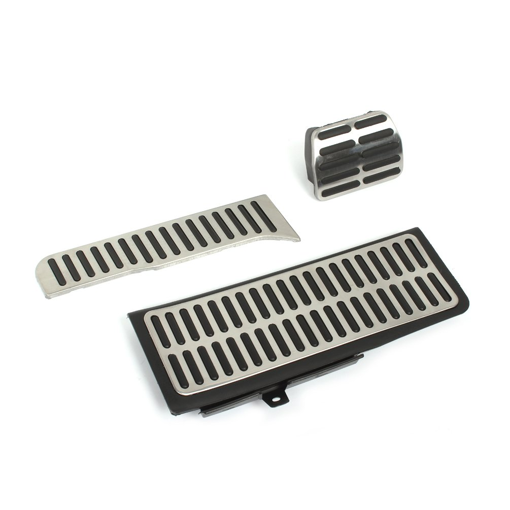 Jcsportline Stainless Stee Free Perfitsated Car Pedal fits NEW SAGITAR NEW PASSAT NEW Touran AT Automatic JC-ZQ015