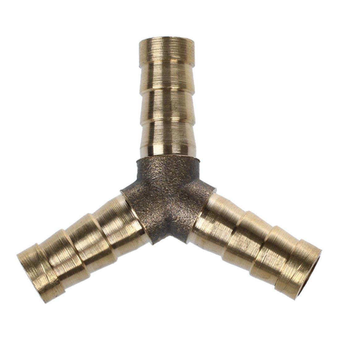 Raccords de tuyaux - TOOGOO(R) Raccords de tuyaux de Y, de carburant, en laiton, 8 mm, 5 / 18 pouces