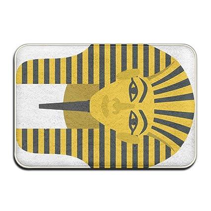 Pengyong - Máscara de faraón egipcio dorado al aire libre, alfombrillas de goma para puerta