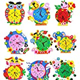 1PC 3D Creative Handmade EVA Cartoon Animals Clock Puzzle Arts Crafts Kits Baby Kids