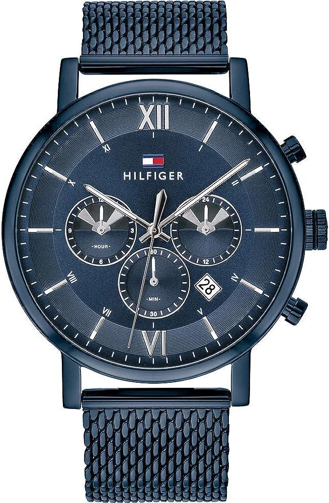 Tommy Hilfiger Reloj Analógico para Hombre de Cuarzo con Correa en Acero Inoxidable 1710397
