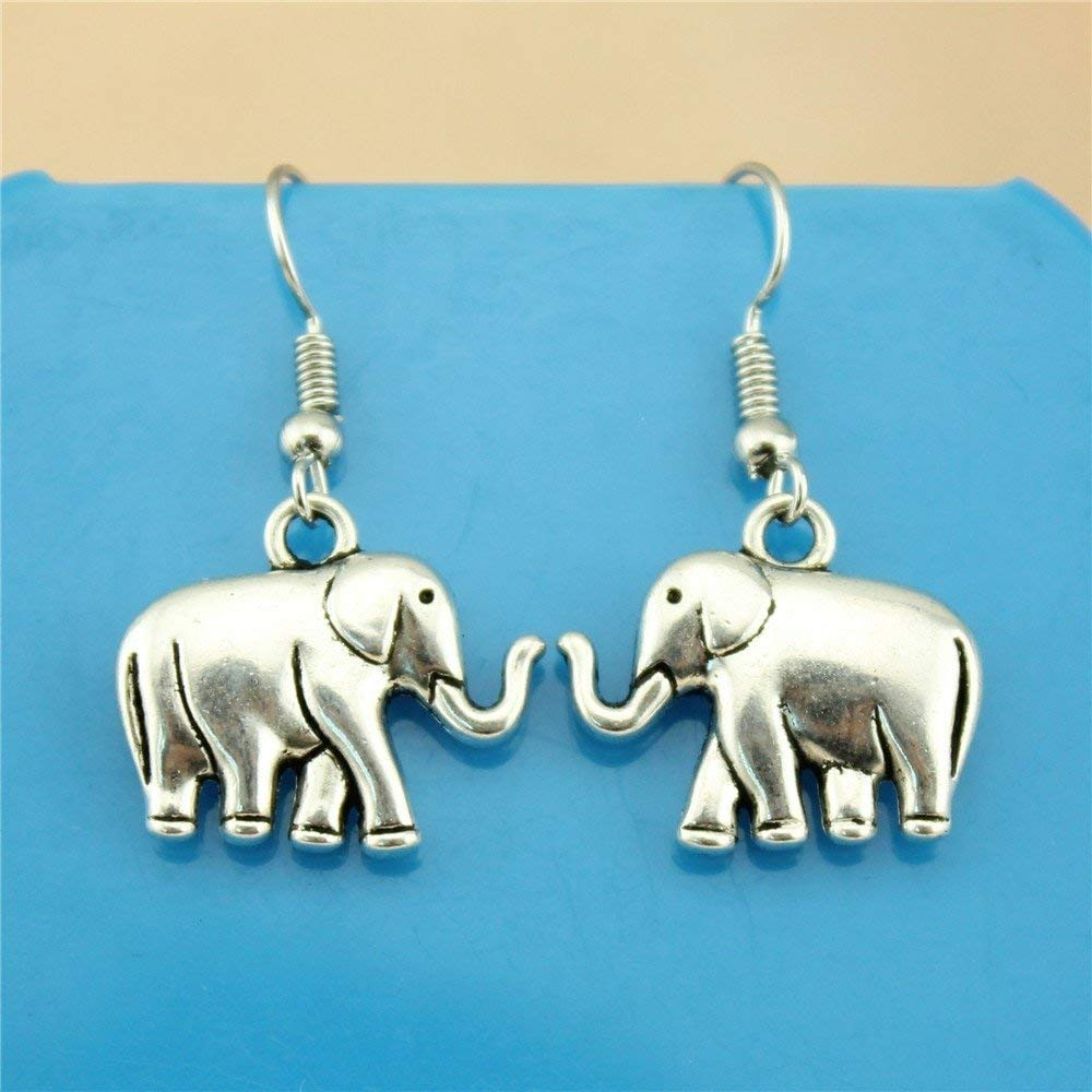 Taliyah 1 Pair Elephant Drop Earrings ModernS Earrings with Earring Backs Stopper