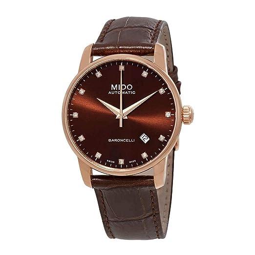 fbad5a43e2fb MIDO Baroncelli Ii automático diamante Mens Reloj m8600.3.64.8  Amazon.es   Relojes