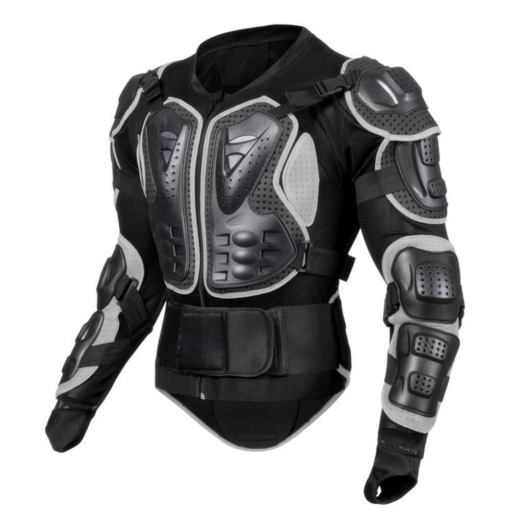 プロテクター 保護ギア 胸 影響 アーマースーツ 屋外用ハードシェル モトクロス 設備(M-3XL) B07MVXS4RQ Gray Large