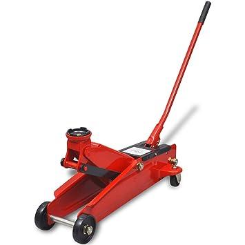 vidaXL Gato hidráulico modelo bajo color rojo capacidad maxima de carga 3 toneladas: Amazon.es: Coche y moto