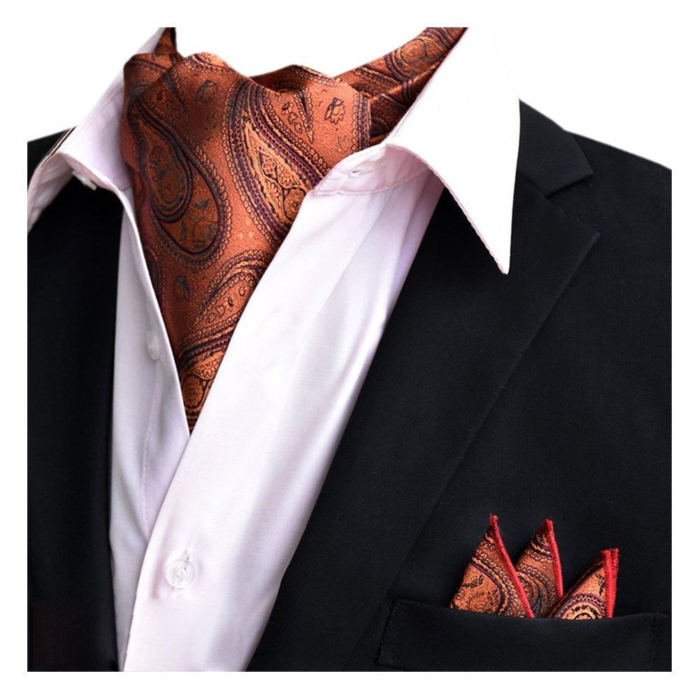 YCHENG Uomo Ascot Foulard Piazza Tascabile Set Cravatte Di Lusso