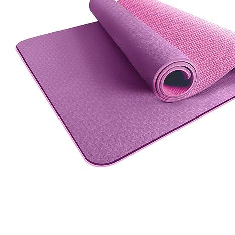 DLJFU - Esterilla De Yoga Estera de Yoga con asa de Agarre ...