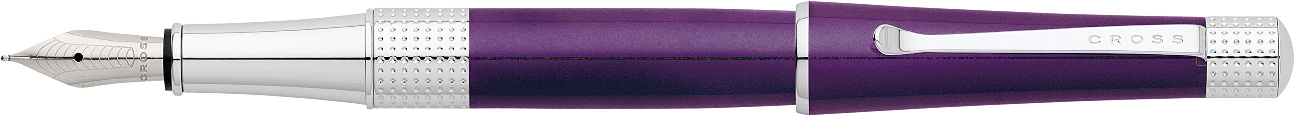 Cross Beverly Deep Purple Lacquer Fountain Pen with Medium..