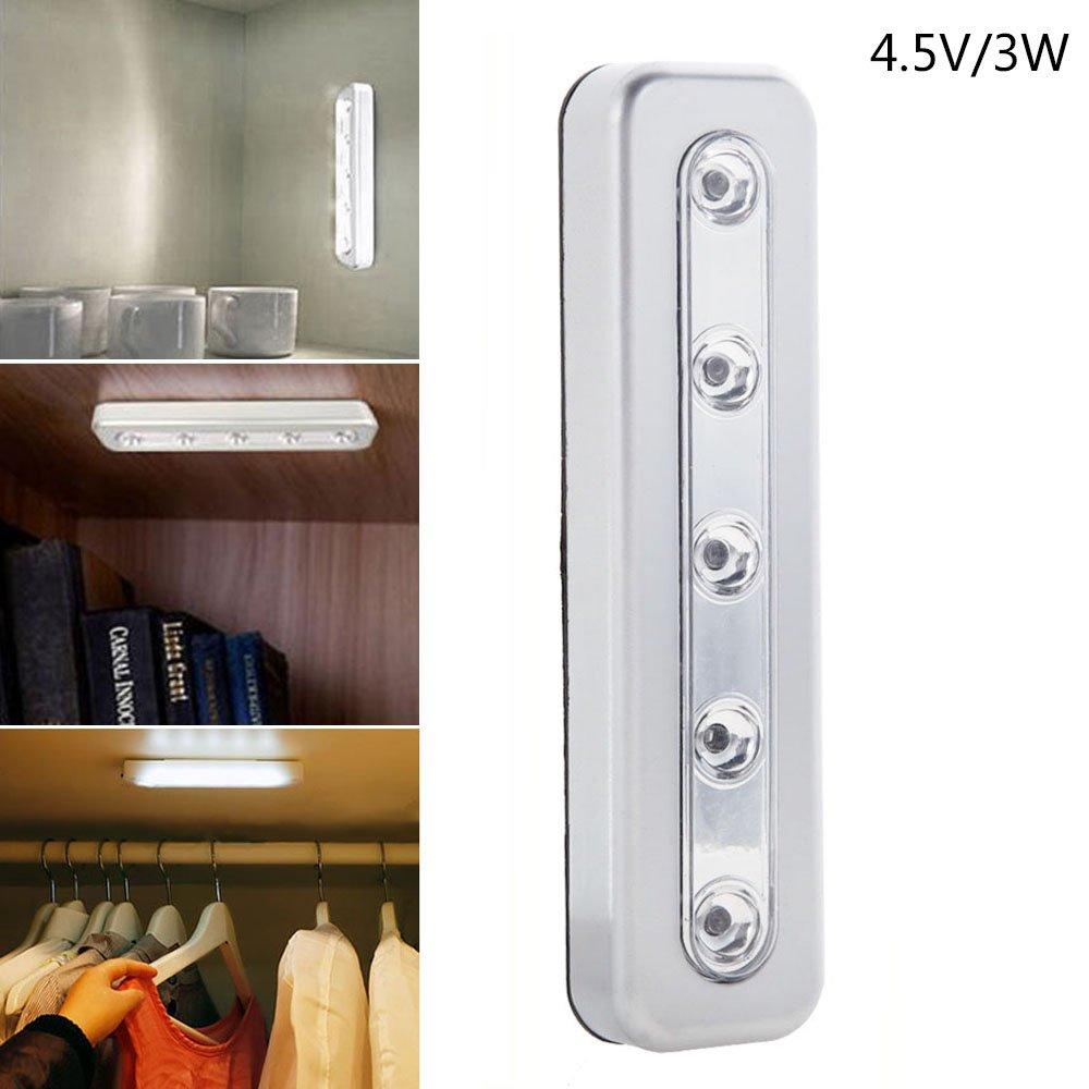 Comficent Lámpara LED del Armario Recargable magnético Movimiento Stick-on en Cualquier Lugar con Banda Magnética soporte magnético en cualquier lugar: ...