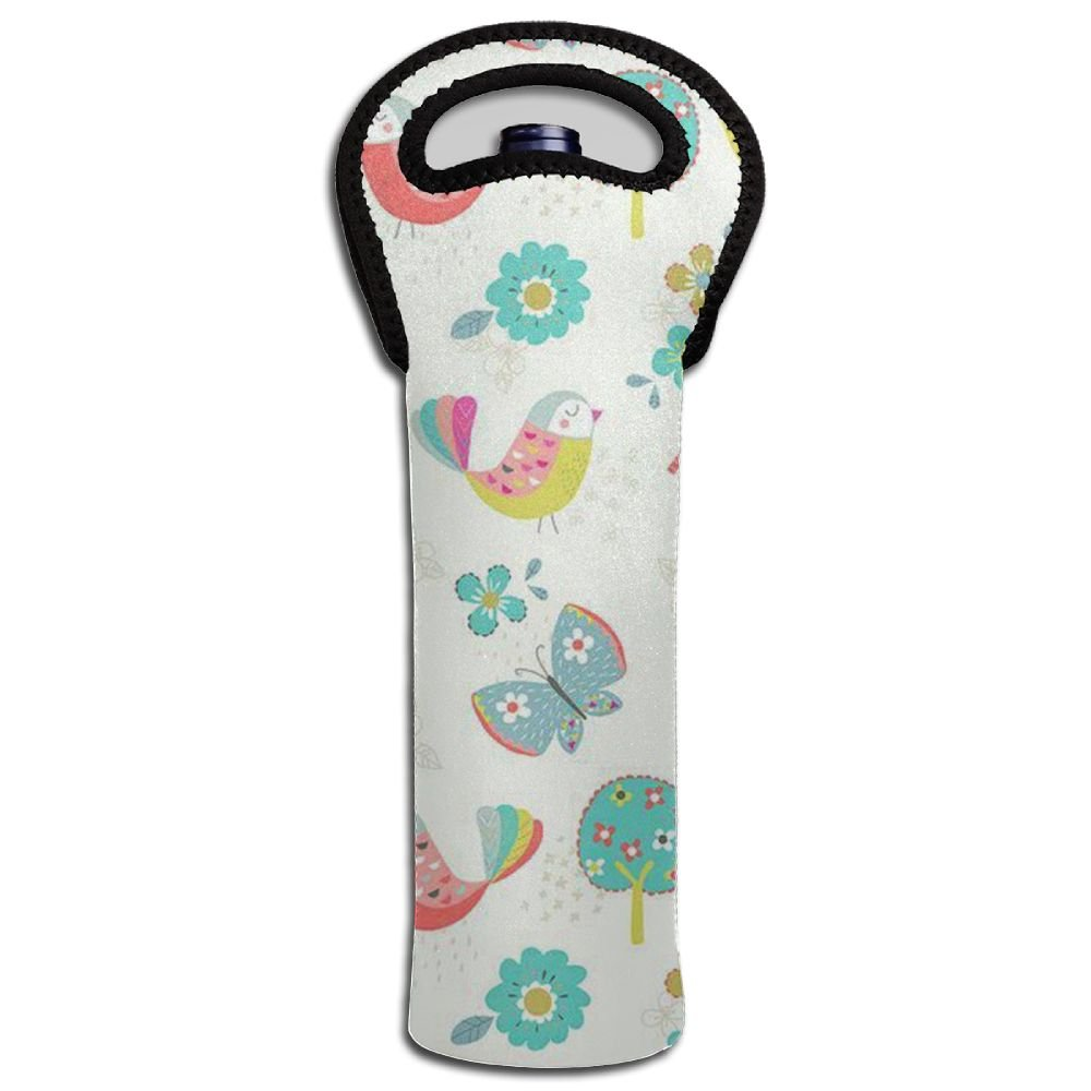 Cartoon Animals Wine Tote Carrier Bag / Champagne For Family Gatherings Wine Carrier Tote Bag.