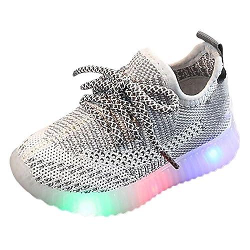 best cheap 496cb a486d WEXCV Unisex Baby Jungen Mädchen leuchtende Sandalen für ...