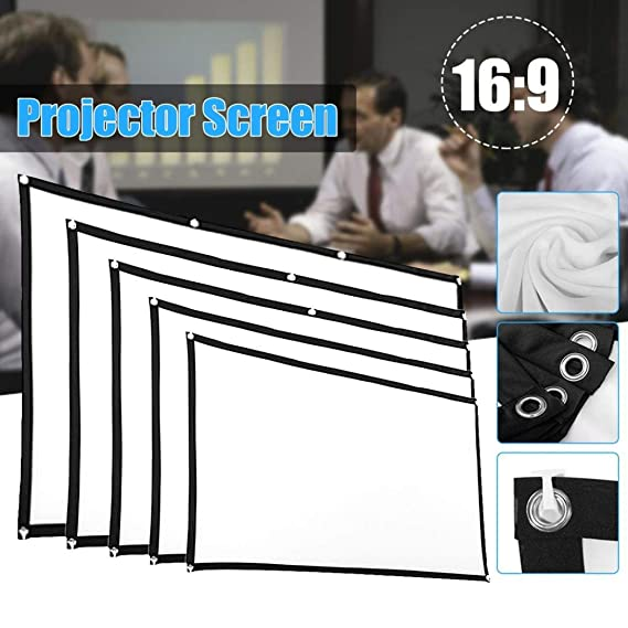 Coogel Projector Screen, Durable 60inch/72inch/84inch/100inch ...