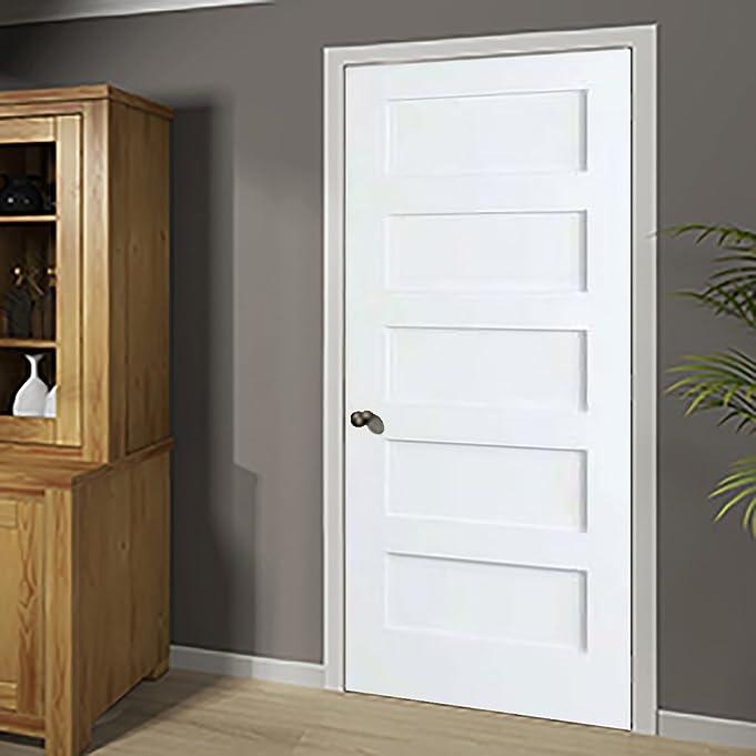 Amazon.com: 5-Panel Door White Primed Shaker 80 in. x 1-3/8 in. (24x80): Home \u0026 Kitchen & Amazon.com: 5-Panel Door White Primed Shaker 80 in. x 1-3/8 in ... Pezcame.Com