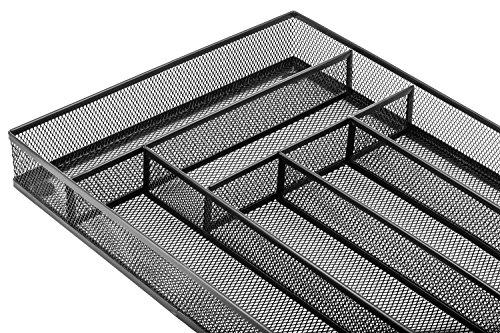 Halter Steel Mesh Large Silverware Cutlery Tray Organizer with No-Slip Foam Feet - Kitchen Organization / Silverware Storage - 16'' X 11.25'' X 2'' - 2 Pack by Halter (Image #5)