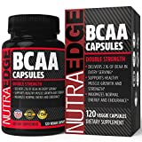 DOUBLE STRENGTH NutraEdge BCAA Capsules, Easy to Swallow, 2100mg per Serving – Support Healthy Muscle Growth and Strength, Maximize Normal Energy and Endurance, with 100% Money Back Guarantee. Review