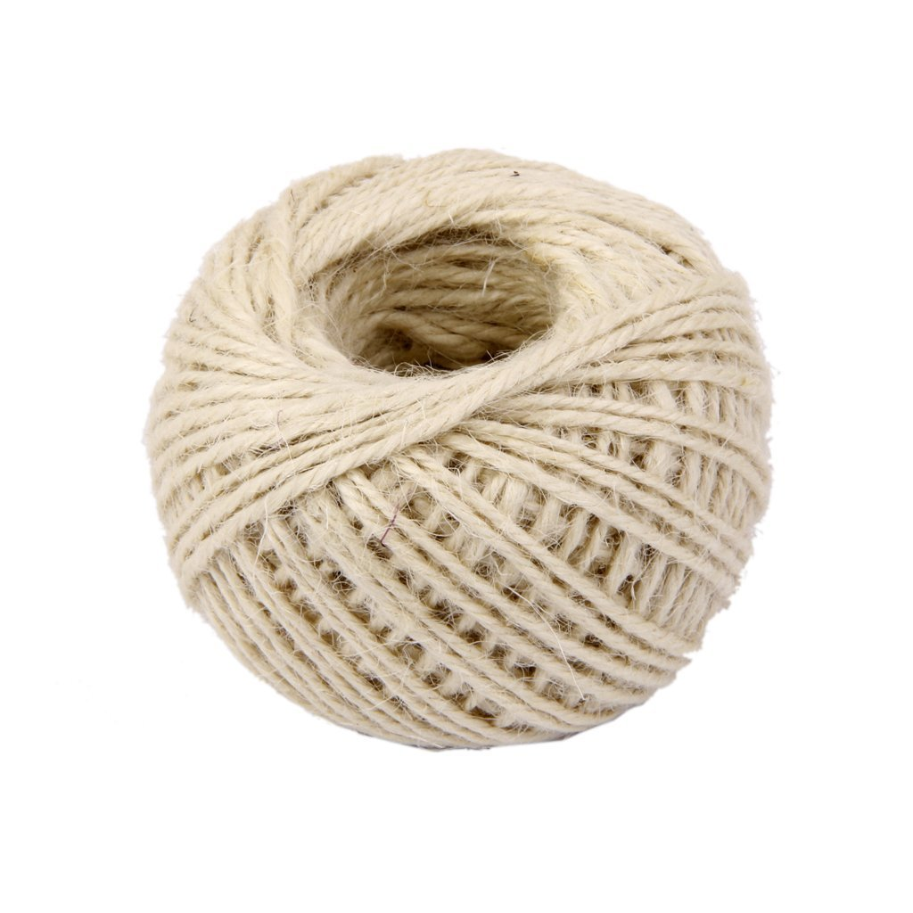 Christmas Gift Packing Natural Thick Rope Jute String Craft Twine for DIY /& Arts Crafts Gardening and Recycling Wrap Gift 50Meters White
