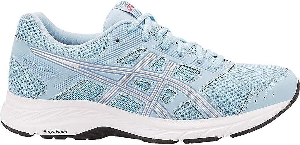 ASICS1012A234-002 - Gel-Contend 5 (Estados Unidos) Mujer, Azul (Skylight/Silver), 39.5 M EU: Amazon.es: Zapatos y complementos