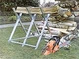 Heavy Duty Sawhorse - Log Saw Horse with Serrated Grip