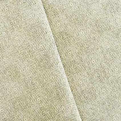 Amazon.com: Gray/Ivory Chenille Diamond Twill Home ...