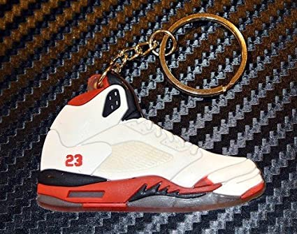 best sneakers 1346a d22e5 Amazon.com  Air Jordan Retro 5 (White Red Black)  Office Products