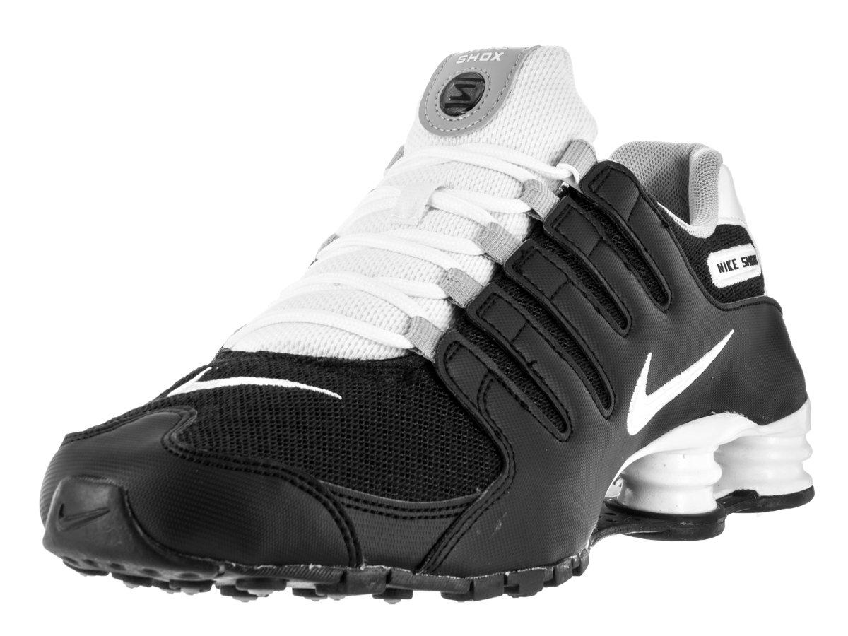 promo code 6316b c5d2d Nike Men's Shox NZ SE Running Shoe Black/White/Wolf Grey 9 D(M) US