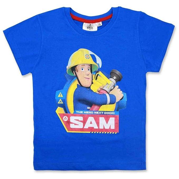 Boys Kids Official Licensed Fireman Sam Long Sleeve T Tee Shirt Top