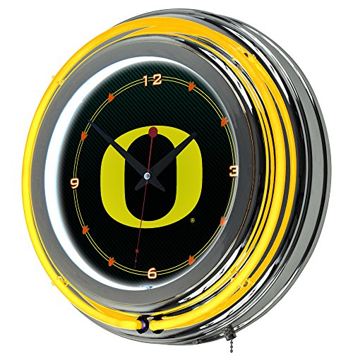 Neon Carbon Fiber Carbon - Trademark Gameroom University of Oregon Chrome Double Rung Carbon Fiber Neon Clock