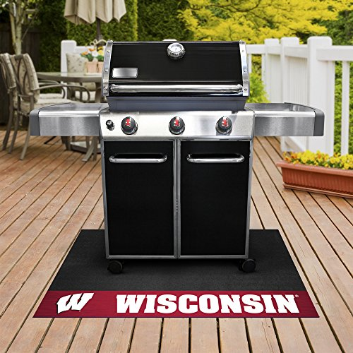 (FANMATS NCAA University of Wisconsin Badgers Vinyl Grill Mat)