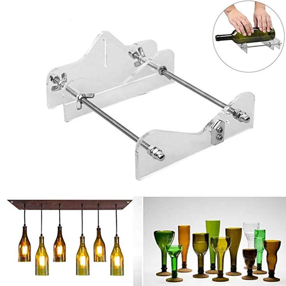 ONEVER Herramienta de corte de botellas de vidrio profesional para el corte de botellas Cortador de botellas de vidrio Herramienta de corte de bricolaje M/áquina Vino cerveza