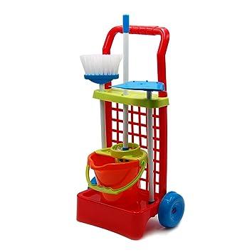 Tachan Carrito de Limpieza con Cubo Color Naranja Vicam 12: Amazon.es: Juguetes y juegos