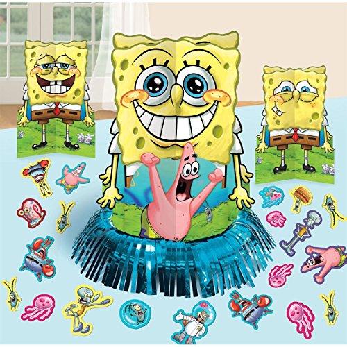 SpongeBob SquarePants Party Table Decorations Kit ( Centerpiece Kit ) 23 PCS - Kids Birthday and Party Supplies Decoration Spongebob Birthday Decorations