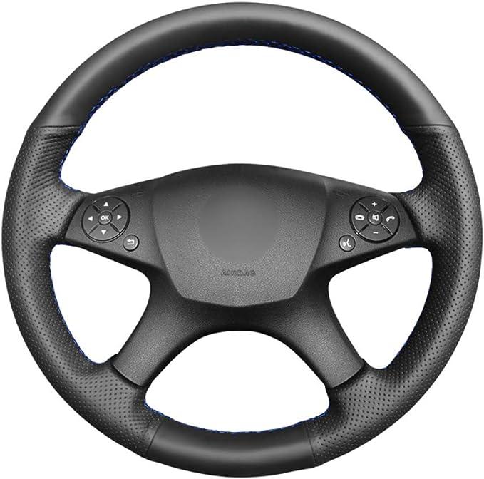 Anello coprivolante coprivolante compatibile con Mercedes Benz CLA GLK Classe A W204 W246 W176 W117 Colore : Blu 2 colori