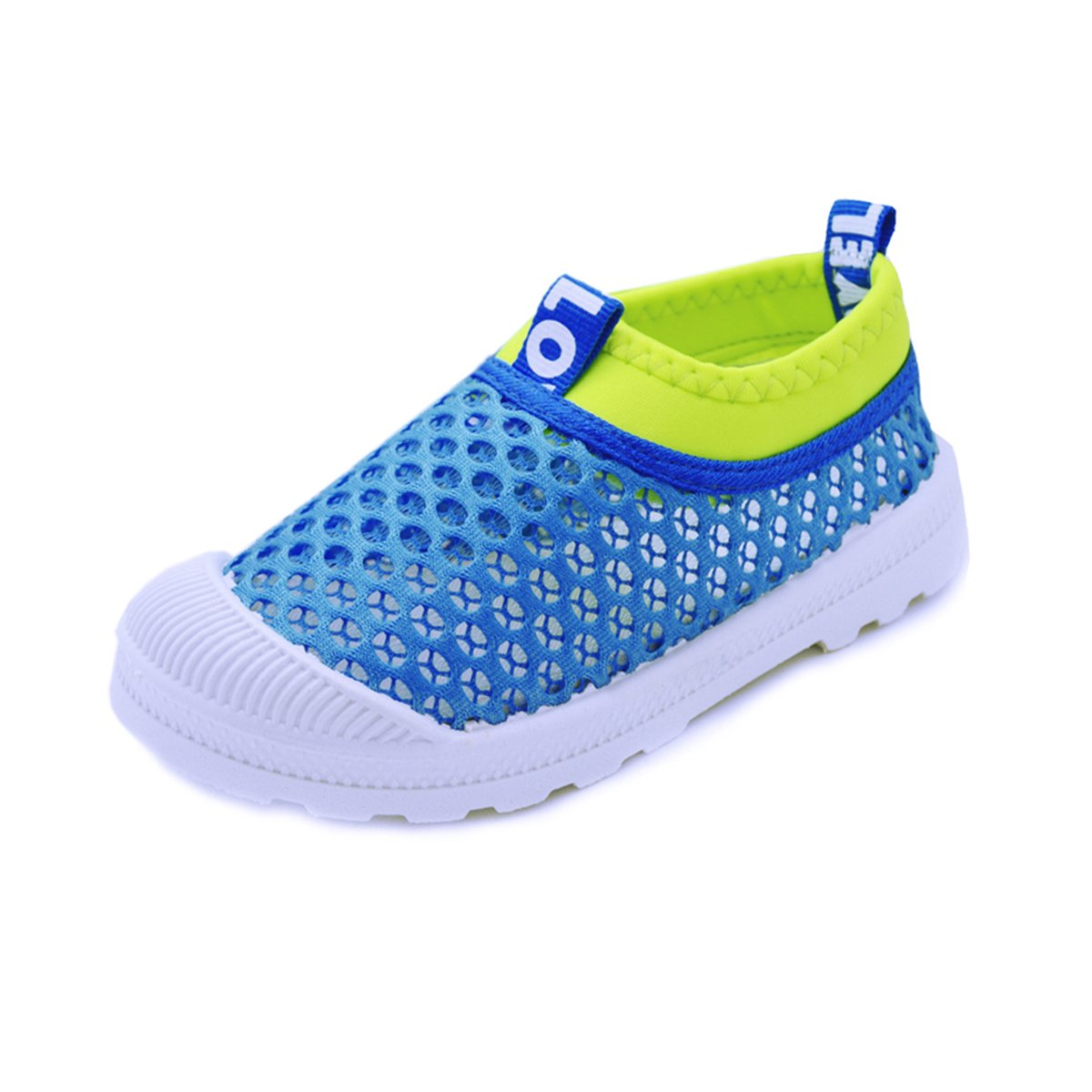 RVROVIC Kids Slip-on Breathable Mesh Sneakers Summer Beach Water Shoes Toddler/Little Kid (7 M US Toddler, 1-Blue)