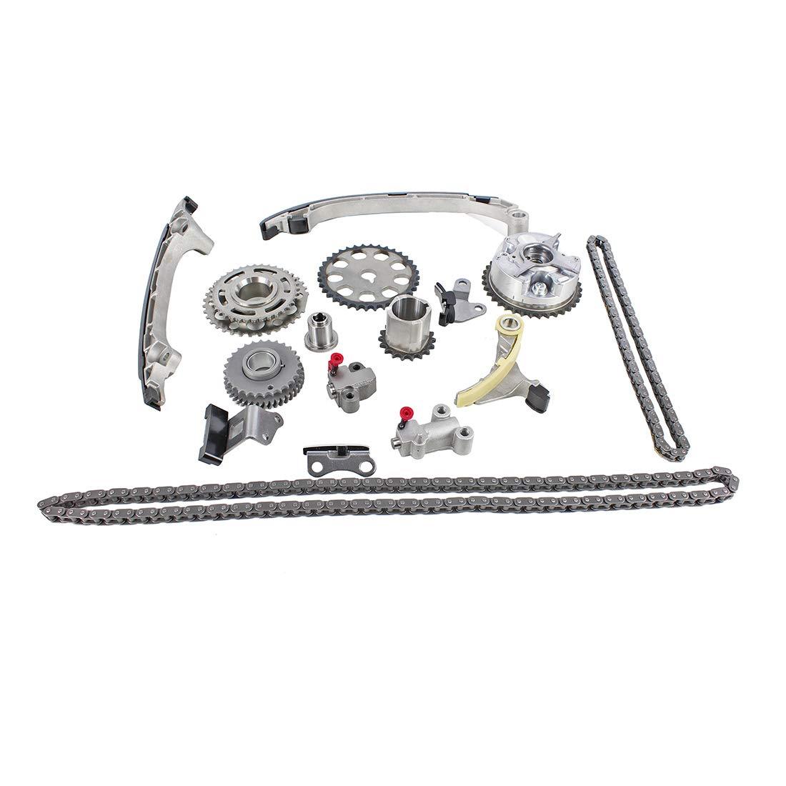 DNJ TK954VVT Timing Chain Kit for 2005-2015 L4 DOHC Toyota 2.7L Tacoma 2694cc 16V 4Runner 2TRFE