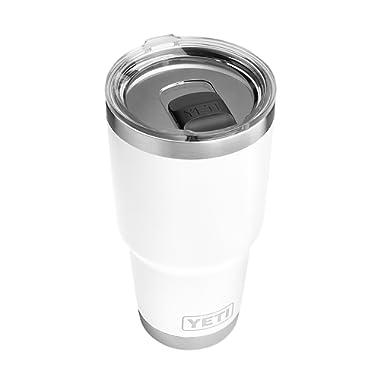 YETI Rambler 30 oz Stainless Steel Vacuum Insulated Tumbler w/MagSlider Lid, White