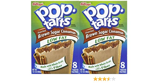Amazon.com: Kelloggs Low-Fat Frosted Brown Sugar Cinnamon Pop-Tarts, 8 ct, 2 pk 14.1 oz (400g): Toaster Pastries