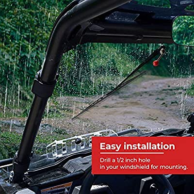 KEMIMOTO UTV Manual Hand Operated Windshield Wiper Assembly Compatible with Polaris Ranger RZR 900 1000 General: Automotive