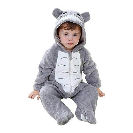 abile design vendita scontata taglia 40 Katara 1778 Costume Totoro Neonati Bambini Tuta Kigurumi Animale Pigiama  Intero con Cappuccio Bambino 0-6 Mesi