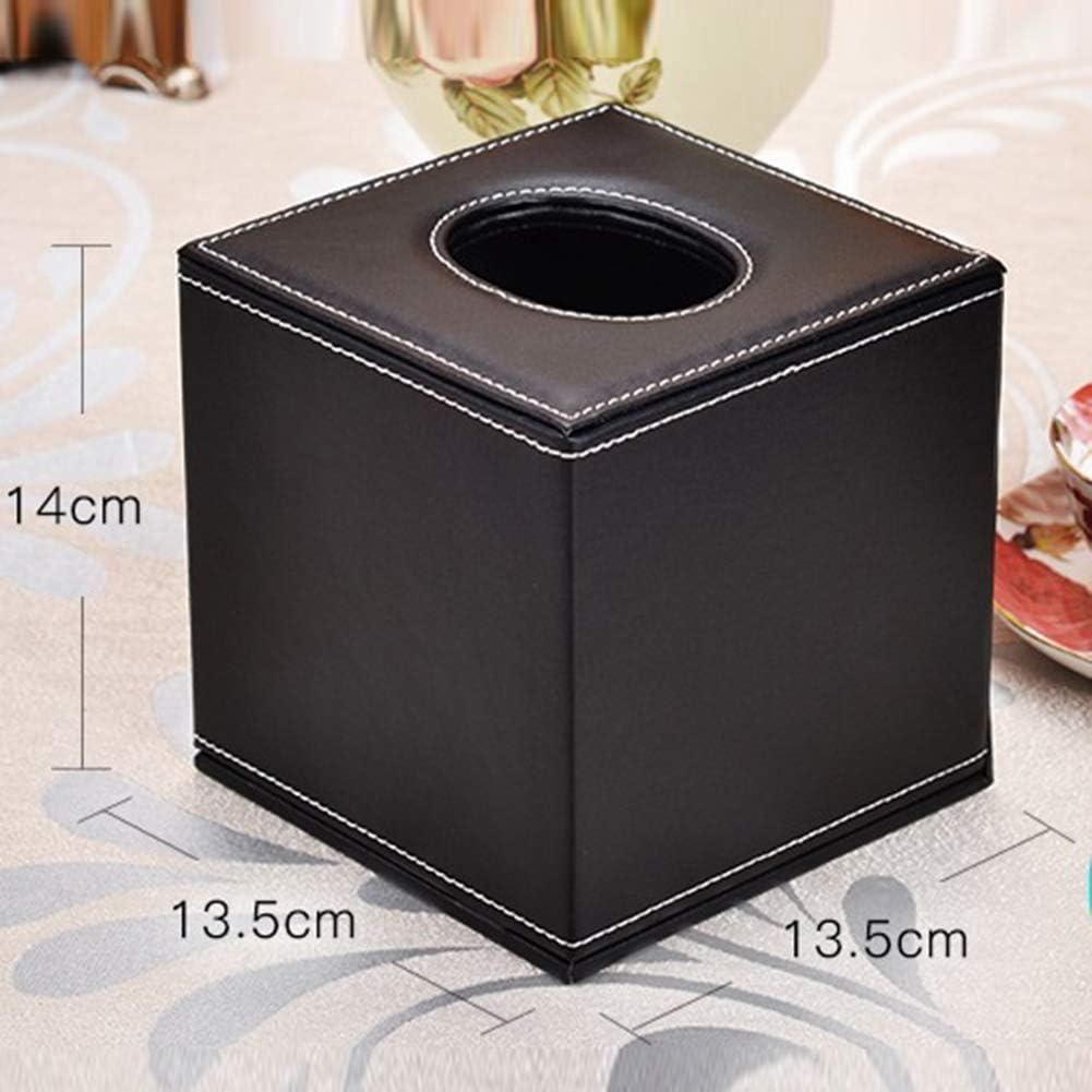 dekorativer Kosmetiktuchhalter f/ür quadratischen Serviettenhalter Pumping Paper Case Dispenser,A Kosmetiktuchbox aus Leder