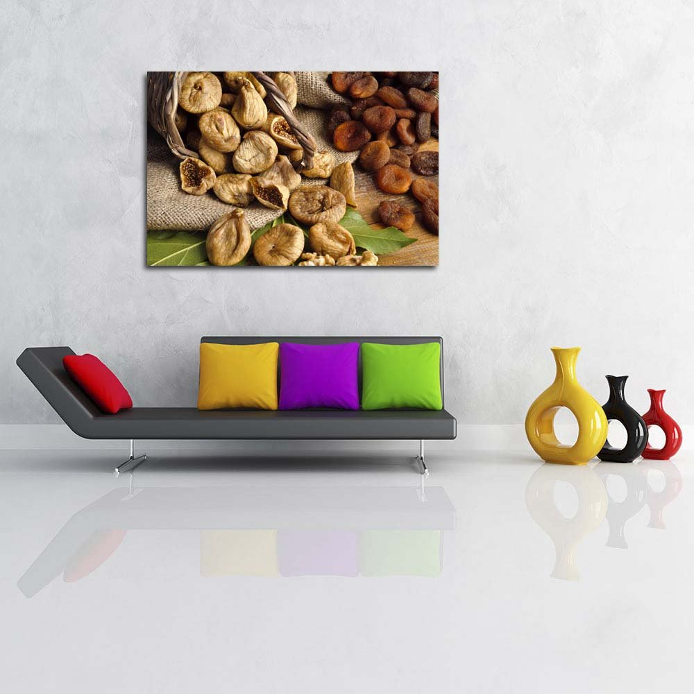 Pitaara Box Photo of Raisins Dried Figs Dried Apricots Unframed Canvas Canvas Unframed Painting 54 x 36inch 49af24