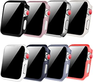 [8 Color Pack] Fintie Case Compatible with Apple Watch 44mm, Slim Lightweight Hard Protective Bumper Cover Compatible with All Versions 44mm Apple Watch SE, Series 6, Series 5 , Series 4