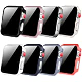 [8 Color Pack] Fintie Case Compatible with Apple Watch 44mm, Slim Lightweight Hard Protective Bumper Cover Compatible…