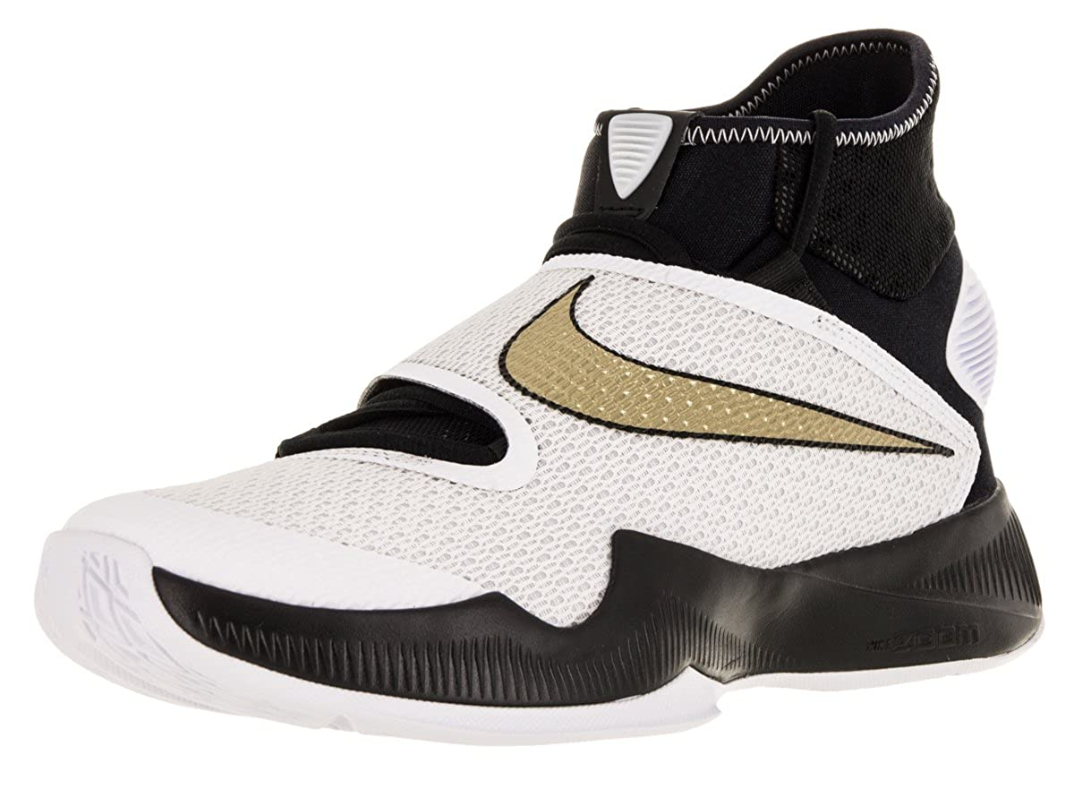 brand new 5879e 2ab5e Amazon.com   Nike Men s Zoom Hyperrev 2016 Black Metallic Gold White  Basketball Shoe 11.5 Men US   Shoes