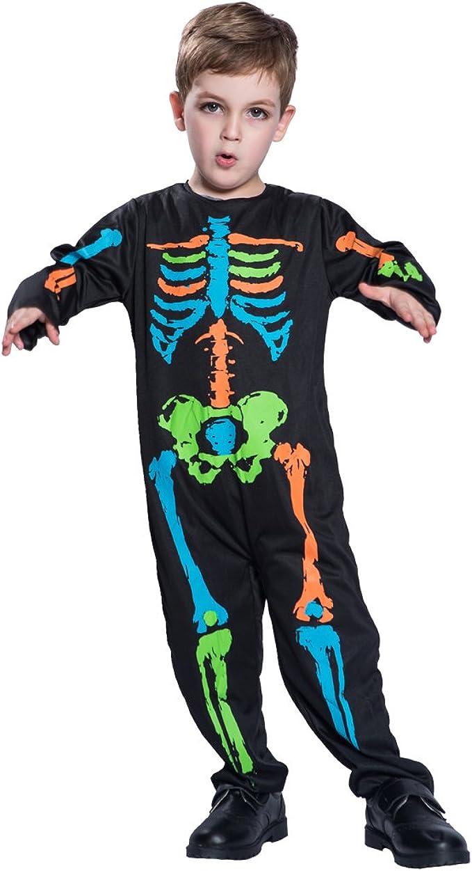 EraSpooky Esqueleto Multicolor Niño Disfraz Halloween Terror ...