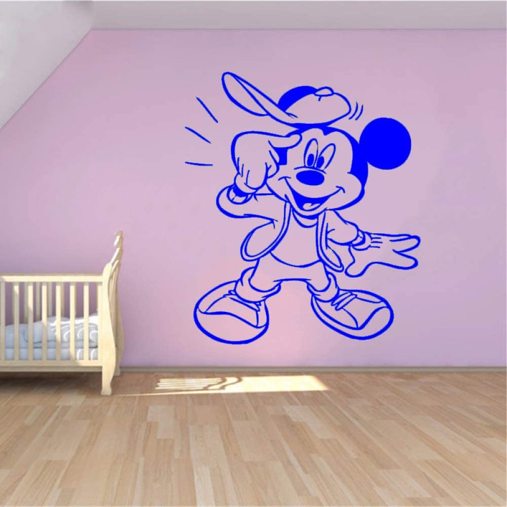 yaoxingfu Creative New DIY Cute Mouse Funny Custom Kids Name Baby Wall Stickers para Habitaciones de niños Decoración del hogar Wall Stickers # WW-3 75x89cm: Amazon.es: Hogar